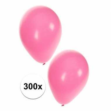 Meisjes 300 lichtroze dekoratie ballonnen