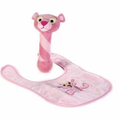 Meisjes baby geschenkset pink panter