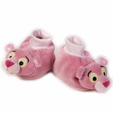 Meisjes baby slofjes pink panter