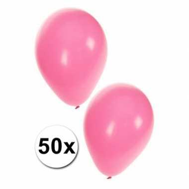 Meisjes babyshower ballonnen baby roze 50x