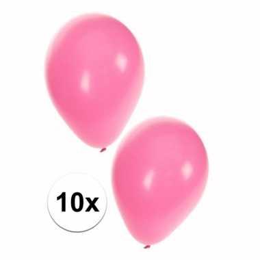 Meisjes babyshower ballonnen roze 10x