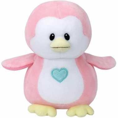 Meisjes babyshower meisje knuffeldier ty baby roze pinguin penny 24 c