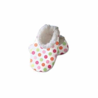 Meisjes babysloffen met stipjes