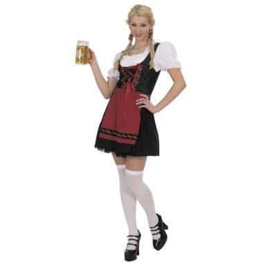 Meisjes bierfeest dames jurk zwart