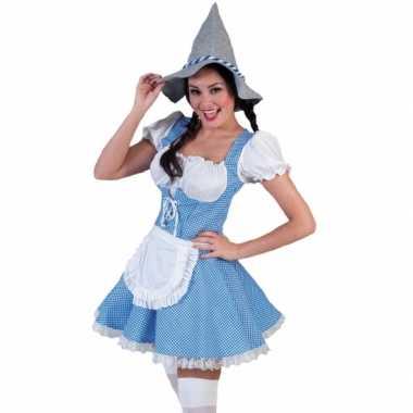 Meisjes blauwe tiroler jurk voor vrouwen
