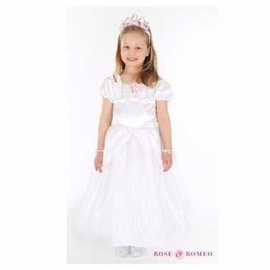 Meisjes bruidmeisje jurk wit