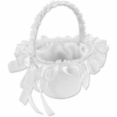Meisjes bruids rozenblaadjes strooi mandje