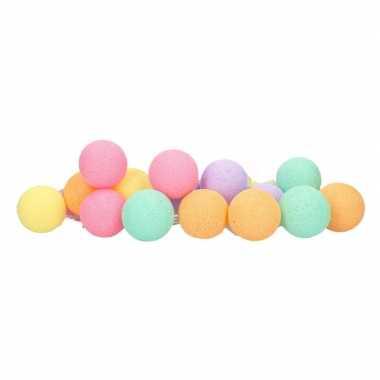 Meisjes cotton balls roze paars geel oranje groen lichtsnoer 5 28 meter