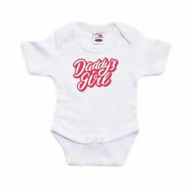 Meisjes daddys girl geboorte cadeau romper wit voor babys