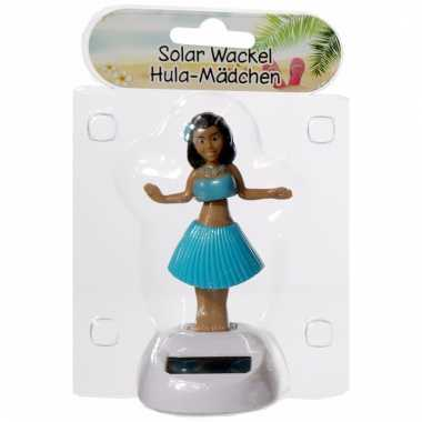 Meisjes dansend hawaii meisje blauw 10 cm solar