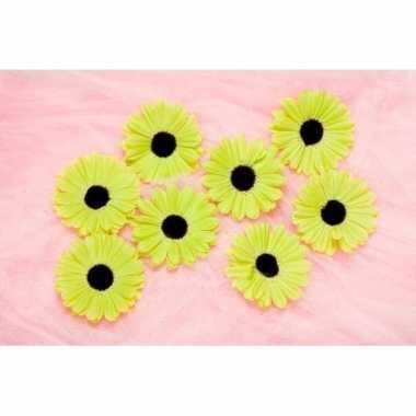 Meisjes decoratie bloemen lime voor klamboes 12 stuks