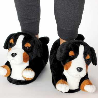 Meisjes dieren berner sennen hond pantoffels/sloffen voor volwassenen
