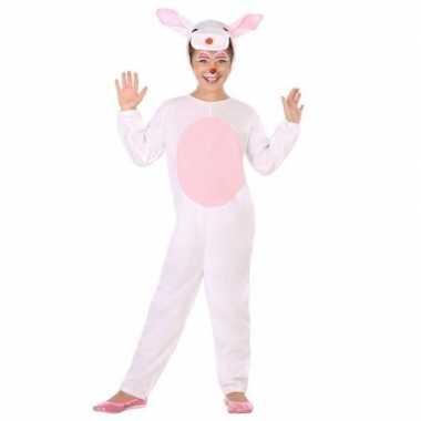 Meisjes dierenpak konijn/haas verkleed kostuum voor kinderen