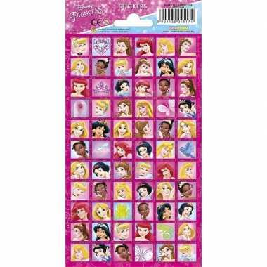 Meisjes disney prinsessen stickervel 66 stickers