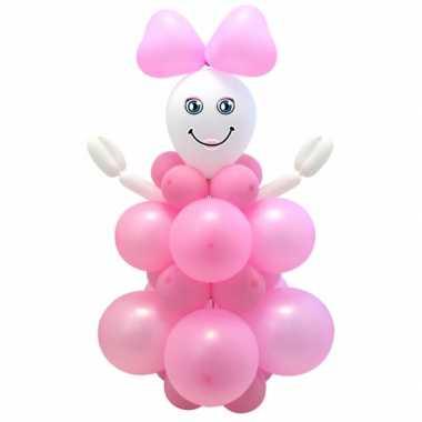 Meisjes doe het zelf ballon set geboorte meisje