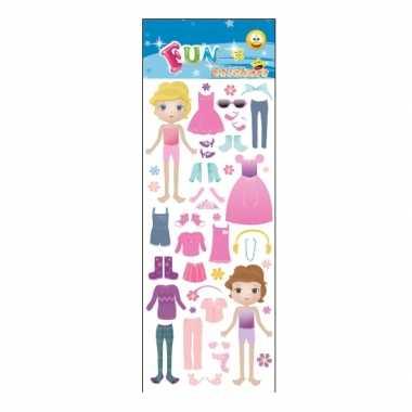 Meisjes dress up doll meiden stickervellen