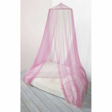 Meisjes eenpersoons / tweepersoons klamboe roze