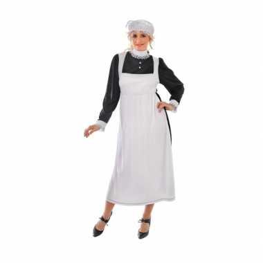 Meisjes engels dienstmeisje kostuum