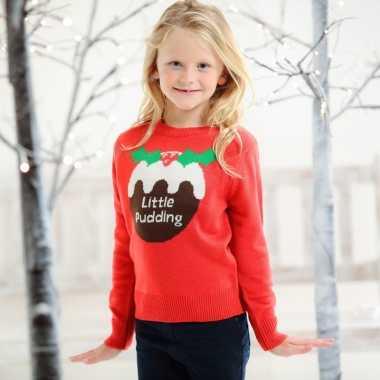 Kersttrui Meisje.Meisjes Foute Kerst Print Trui Rood Voor Kinderen Meisjemeisje Nl