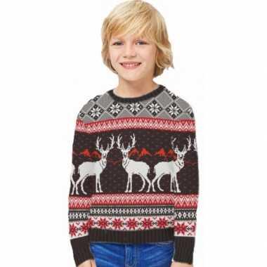 Meisjes foute print kinder truien happy reindeers