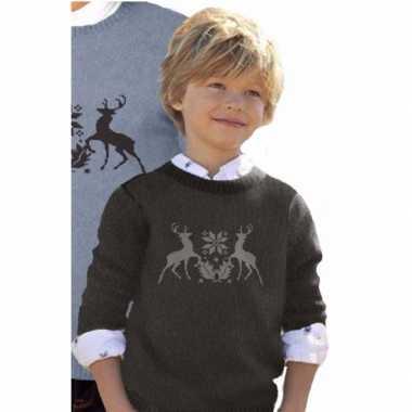 Meisjes foute print kinder truien met rendieren
