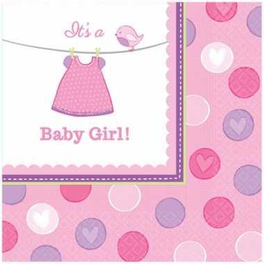 Meisjes geboorte meisje servetten baby girl