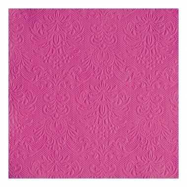 Meisjes geboorte servetten roze 3 laags 15 stuks