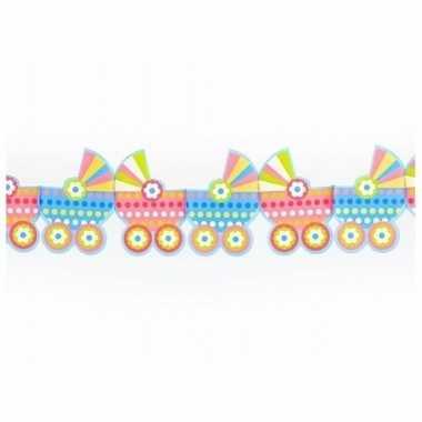 Meisjes geboorte slinger met kinderwagens 3 m