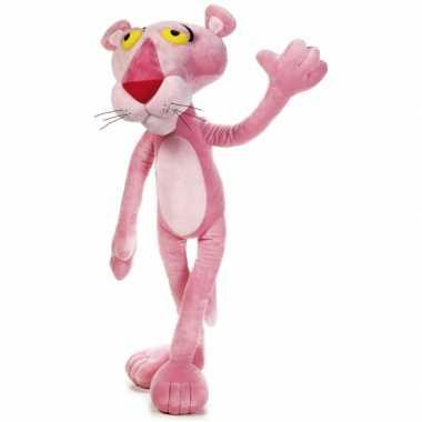 Meisjes grote roze panter knuffel 100 cm