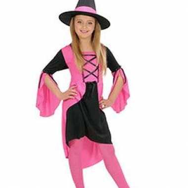 Meisjes heksenkleren meisje in het roze