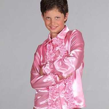 Meisjes hippie rrouges blouse kinderen roze
