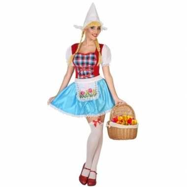 Meisjes hollands meisje kostuum 3 delig voor dames
