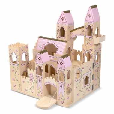 Meisjes houten kasteel princess