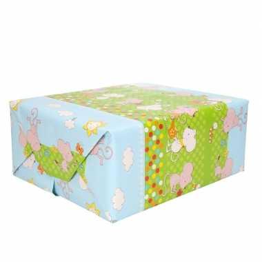 Meisjes inpakpapier muisjes 200 x 70 cm