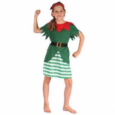 Meisjes kerstelf kostuum
