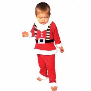 Meisjes kerstmannen outfit voor peuters