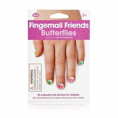 Meisjes kinder nagel stickers vlinders