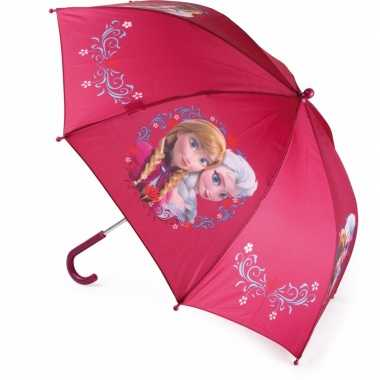 Meisjes kinder paraplu bordeaux frozen elsa en anna