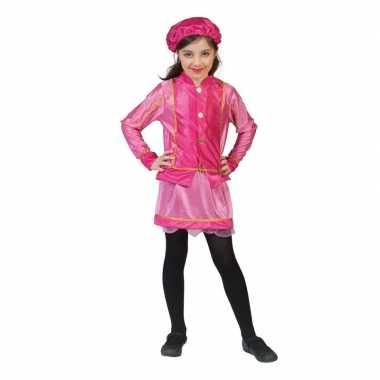 Meisjes kinder verkleedkleding roetveegpiet roze