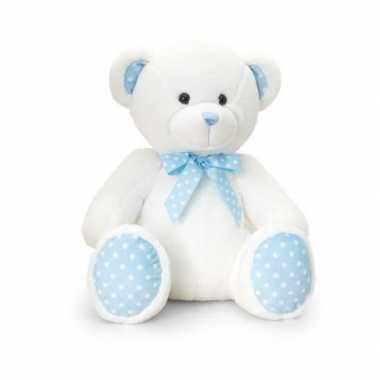 Meisjes knuffelberen blauw geboorte meisje 25 cm