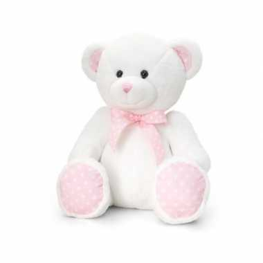 Meisjes knuffelberen roze geboorte meisje 25 cm