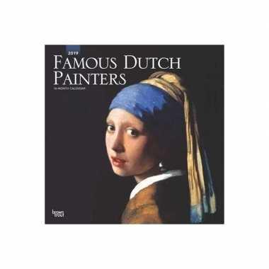 Meisjes kunst kalender famous dutch painters 2019