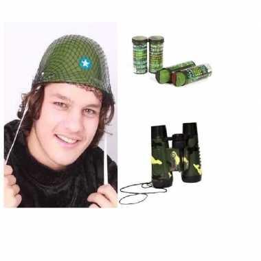 Meisjes leger accessoires verkleedset voor kinderen