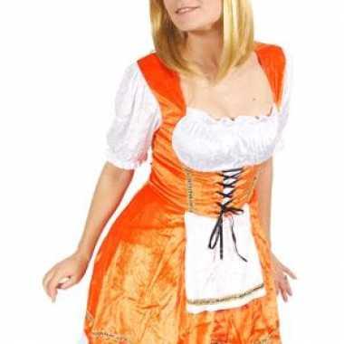 Meisjes leuk oranje oktoberfest jurkje