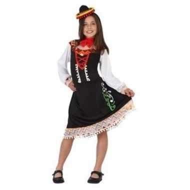 Meisjes mexicaans verkleedjurkje mariachi meisje