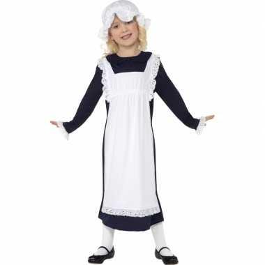 Meisjes ouderwets weesmeisje verkleedkleding