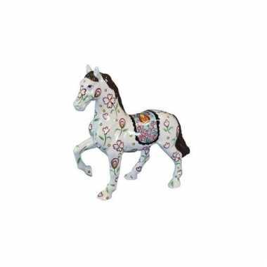 Meisjes paarden spaarpotten wit