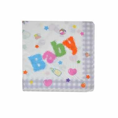 Meisjes papieren servetten kraamfeest