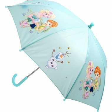 Meisjes paraplu lichtblauw frozen elsa