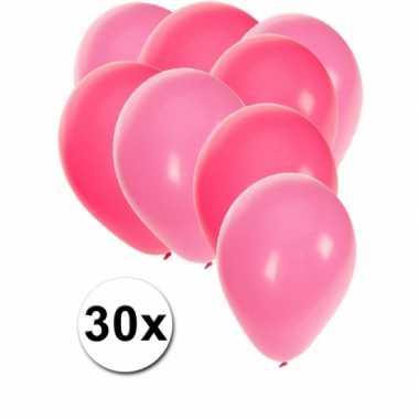 Meisjes party ballonnen roze en lichtroze